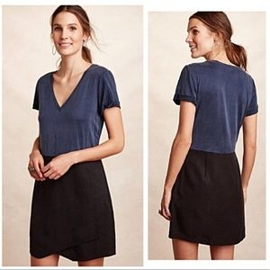 Anthro Dolan Horizon Knit/Woven Shift Dress M